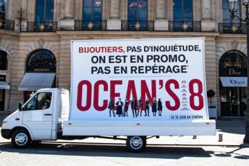 Affiche promotion Ocean's 8 Hypee Communication