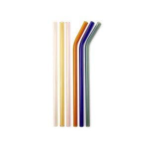 Paille éco-responsable en verre colorées
