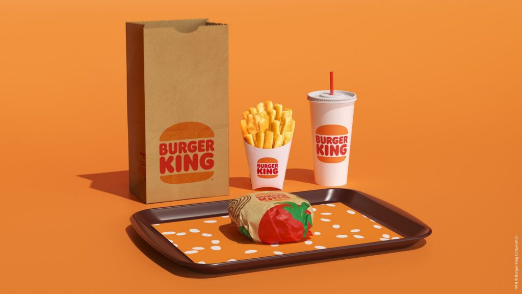 Nouveau design des packagings de Burger King