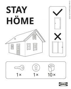 "Marques engagées ""Stay Home"" Ikea"