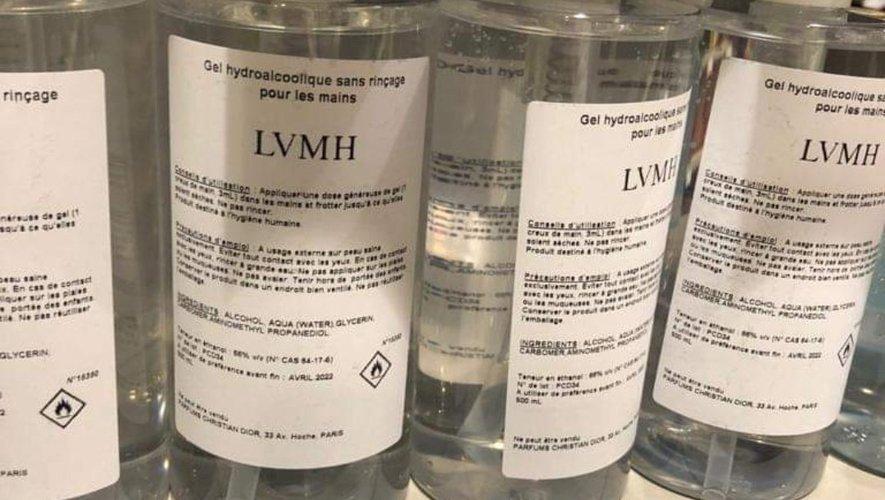 Marques engagées - Gel hydroalcoolique LVMH