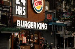 Façade d'un restaurant Burger King