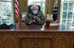 Bernie Sanders dans le bureau de la Maison Blanche