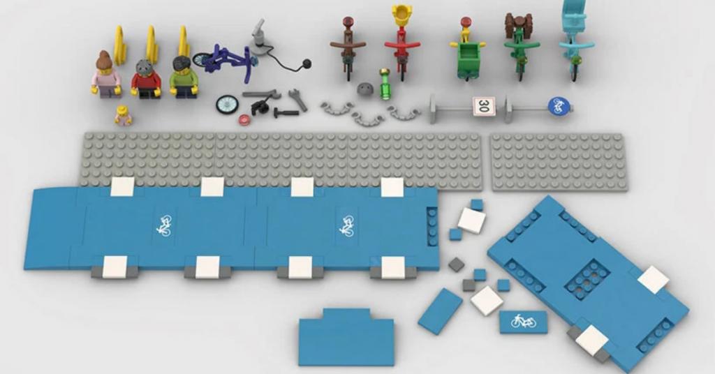 Pistes cyclables en legos