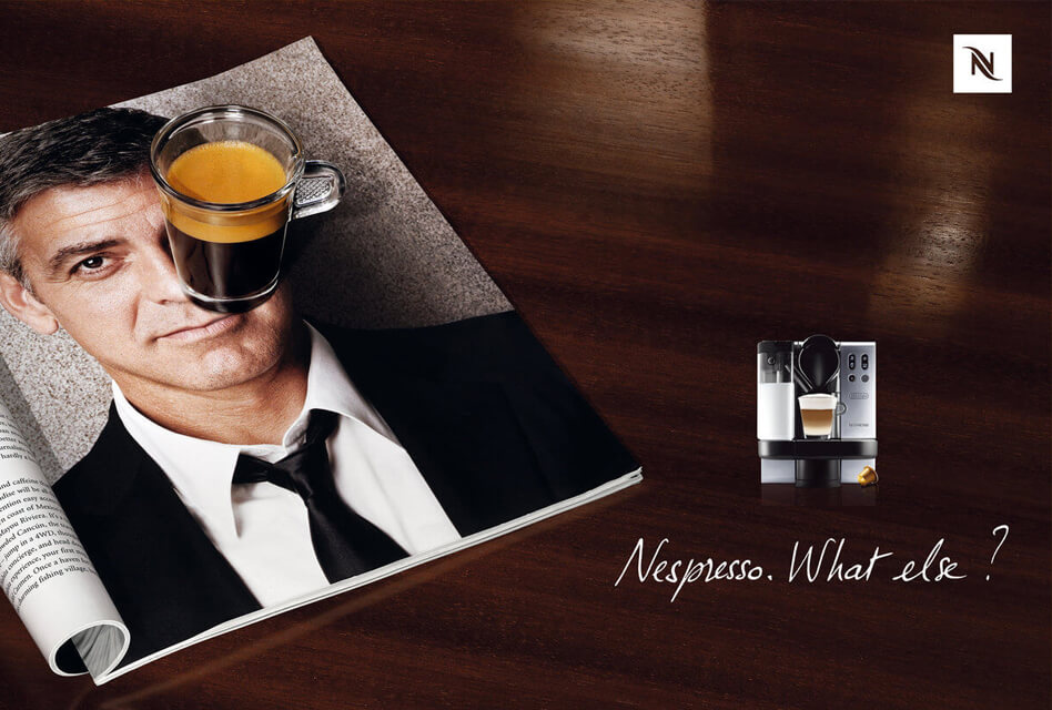 Campagne d'influence Nespresso x Georges Clooney